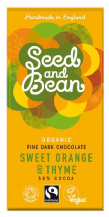 Seed & Bean Organic Orange & Thyme Dark Chocolate 85g